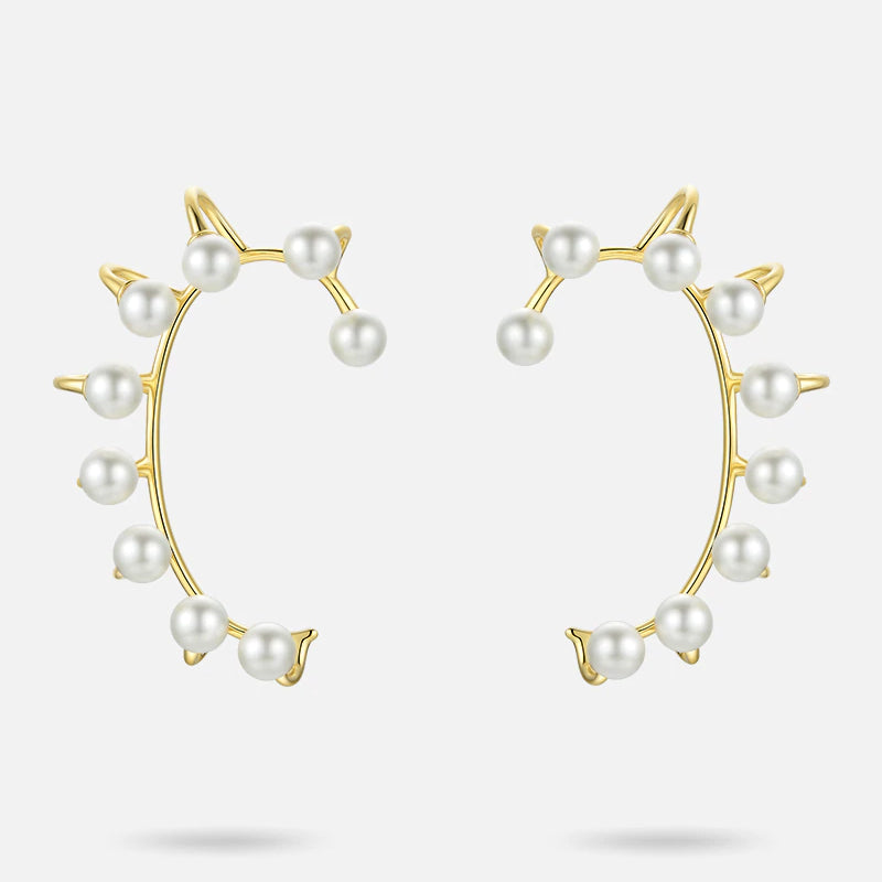 PEARL CLAW CUFF EARRINGS