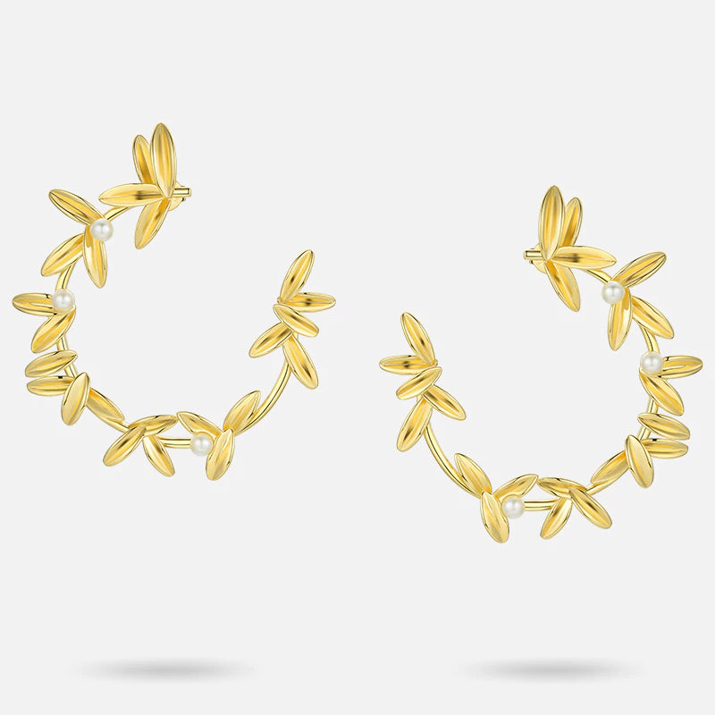 OLIVE JUICE HOOP EARRINGS