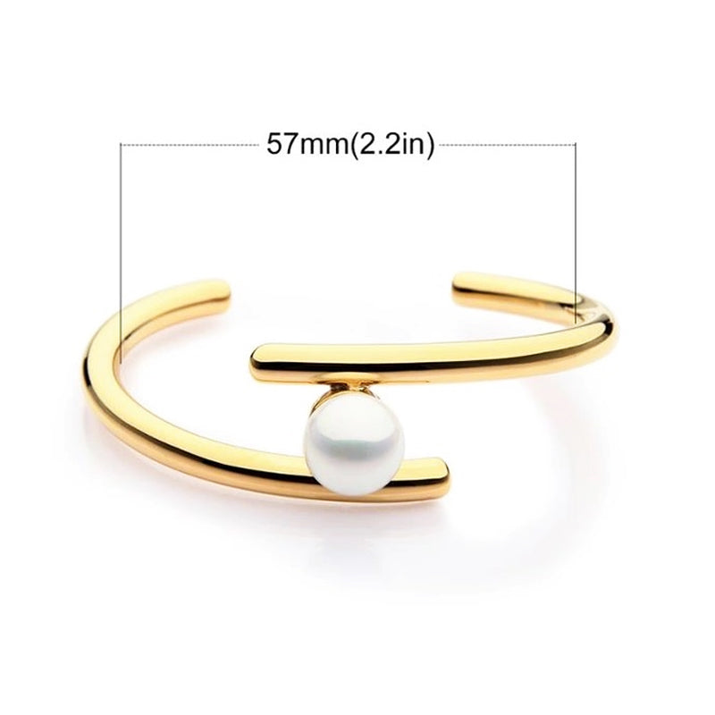 PARALLELS PEARL CUFF BRACELET