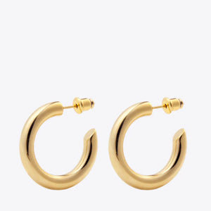 Open image in slideshow, MINI RALLY HOOP EARRINGS