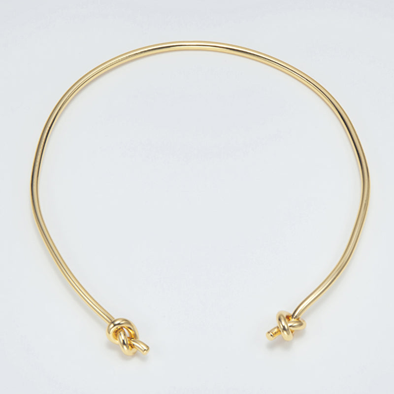 KNOT SORRY CHOKER NECKLACE