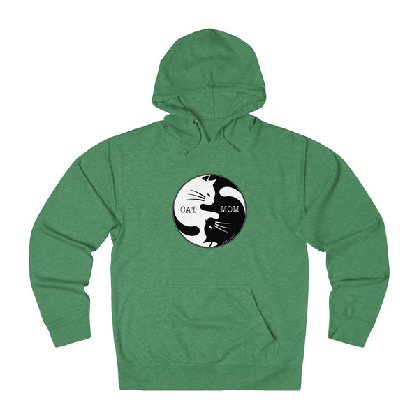 Cat Mom Yin Yang | Unisex French Terry Hoodie | 7 Colors - Baby Pea Clothing Fashion for Babies & Kids of all ages