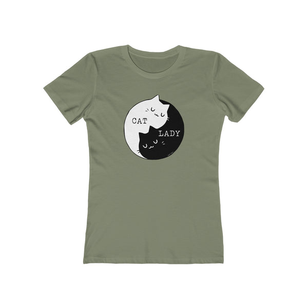 Cat Lady | Women's The Boyfriend Tee | 14 Colors - Baby Pea Clothing Fashion for Babies & Kids of all ages