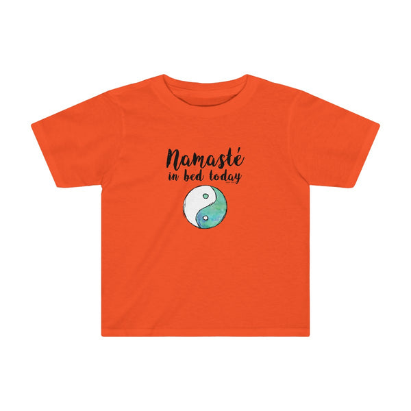 Namaste in Bed | Toddler Soft Cotton T-Shirt | 11 Colors | Toddler - Baby Pea Clothing Fashion for Babies & Kids of all ages