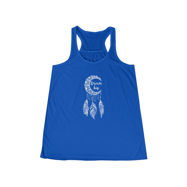 Dream Big Moon Dreamcatcher | Women's Flowy Racerback Tank | 14 Colors | Women's - Baby Pea Clothing Fashion for Babies & Kids of all ages