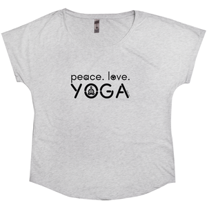 Peace Love Yoga | Women's Dolman T-Shirt | 3 Colors - Baby Pea Clothing Fashion for Babies & Kids of all ages