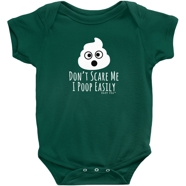 I Poop Easily Onesie | Short Sleeve Rib | 16 Colors | Unisex - Baby Pea Clothing Fashion for Babies & Kids of all ages