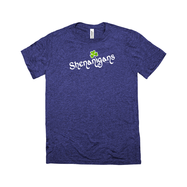 Shenanigans | Adult Triblend Short Sleeve T-Shirt | 14 Colors | Adult Unisex - Baby Pea Clothing Fashion for Babies & Kids of all ages