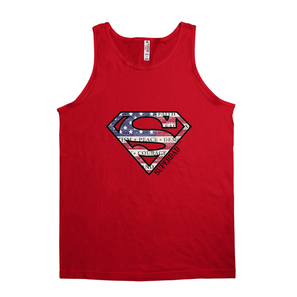 Superdad | Men's Cotton Jersey Tank Top | 4 Colors | Mens - Baby Pea Clothing Fashion for Babies & Kids of all ages