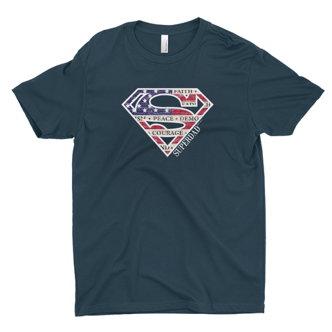 Superdad | Men's Premium Fitted Cotton T-Shirt | 16 Colors | Men - Baby Pea Clothing Fashion for Babies & Kids of all ages