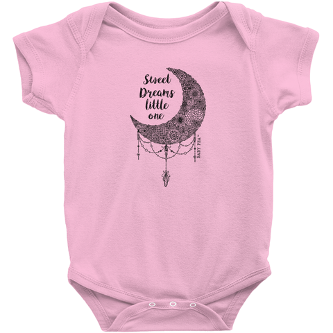 Sweet Dreams Little One Onesie | Short Sleeve Rib | 16 Colors | Unisex - Baby Pea Clothing Fashion for Babies & Kids of all ages