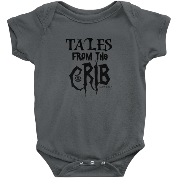 Tales From the Crib Onesie | Short Sleeve Rib | 16 Colors | Unisex - Baby Pea Clothing Fashion for Babies & Kids of all ages