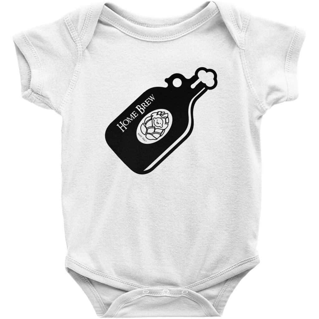 Home Brew Onesie | Short Sleeve Rib | 16 Colors | Unisex - Baby Pea Clothing Fashion for Babies & Kids of all ages