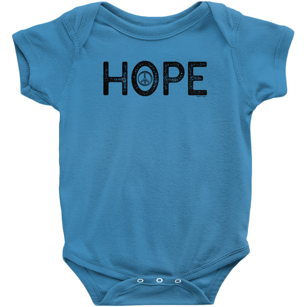 Hope Onesie | Short Sleeve Rib | 16 Colors | Unisex - Baby Pea Clothing Fashion for Babies & Kids of all ages
