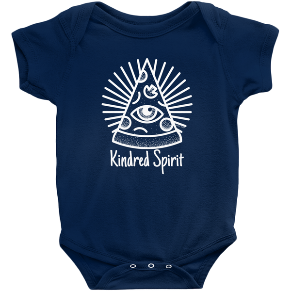 Kindred Spirit Pizza Onesie | Short Sleeve Rib | Unisex | 16 Colors - Baby Pea Clothing Fashion for Babies & Kids of all ages