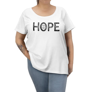 Hope | Women's Curvy Tee | 6 Colors - Baby Pea Clothing Fashion for Babies & Kids of all ages