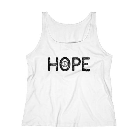 Hope | Women's Relaxed Jersey Tank Top | 6 Colors - Baby Pea Clothing Fashion for Babies & Kids of all ages