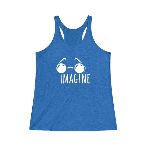 Imagine | Women's Tri-Blend Racerback Tank | 14 Colors - Baby Pea Clothing Fashion for Babies & Kids of all ages