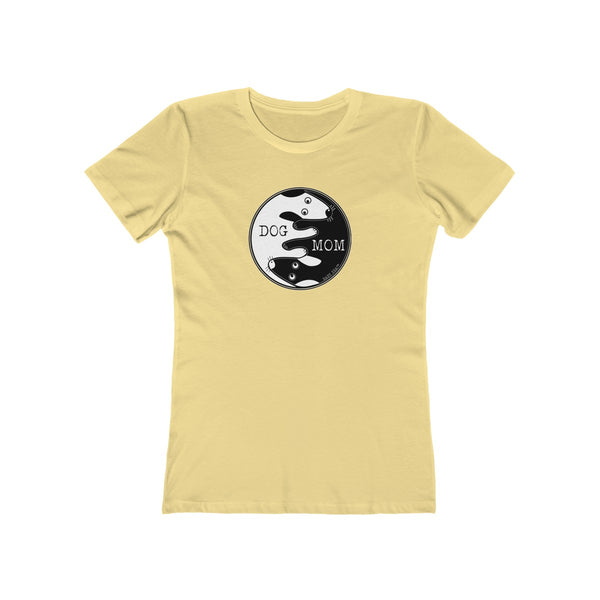 Dog Mom Yin Yang | Women's The Boyfriend Tee | 16 Colors - Baby Pea Clothing Fashion for Babies & Kids of all ages