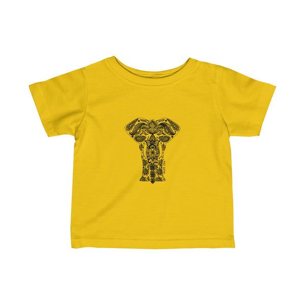 Boho Animal Elephant | Infant Fine Jersey Tee | 12 Colors - Baby Pea Clothing Fashion for Babies & Kids of all ages