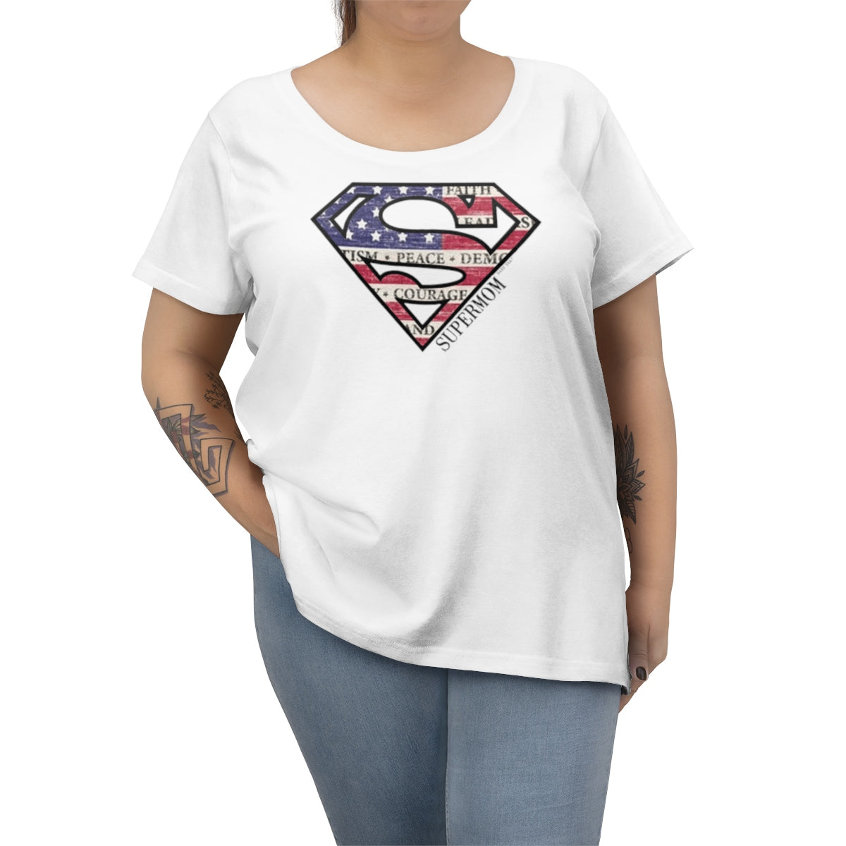 Supermom | Women's Plus Size Curvy Tee | 6 Colors - Baby Pea Clothing Fashion for Babies & Kids of all ages