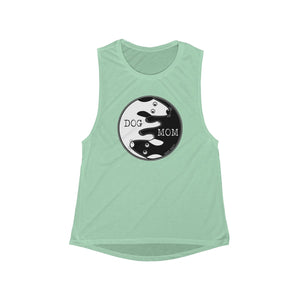 Dog Mom Mom Yin Yang | Women's Flowy Scoop Muscle Tank | 6 Colors - Baby Pea Clothing Fashion for Babies & Kids of all ages