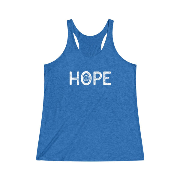 Hope | Women's Tri-Blend Racerback Tank | 14 Colors - Baby Pea Clothing Fashion for Babies & Kids of all ages