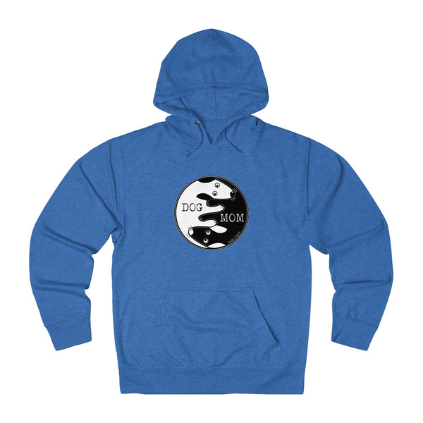 Dog Mom Yin Yang | Unisex French Terry Hoodie | 7 Colors - Baby Pea Clothing Fashion for Babies & Kids of all ages