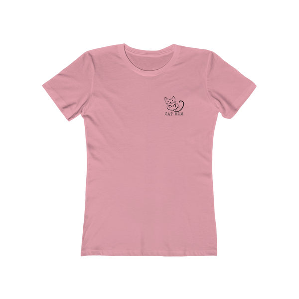 Cat Mom | Women's The Boyfriend Tee | 14 Colors - Baby Pea Clothing Fashion for Babies & Kids of all ages