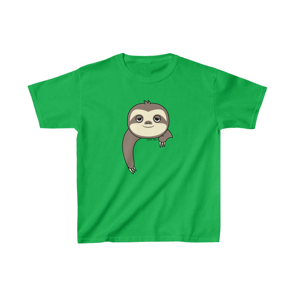 Sloth-ing Around | Youth Heavy Cotton T-Shirt | 17 Colors | Unisex - Baby Pea Clothing Fashion for Babies & Kids of all ages