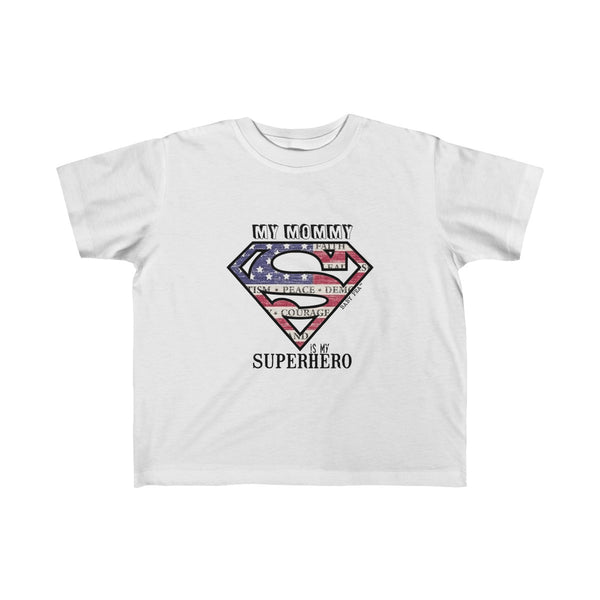 Supermom My Mommy My Superhero | Toddler Kid's Jersey T-Shirt | 10 Colors | Unisex - Baby Pea Clothing Fashion for Babies & Kids of all ages