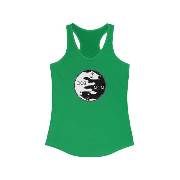 Dog Mom Yin Yang | Women's Ideal Racerback Tank | 8 Colors - Baby Pea Clothing Fashion for Babies & Kids of all ages