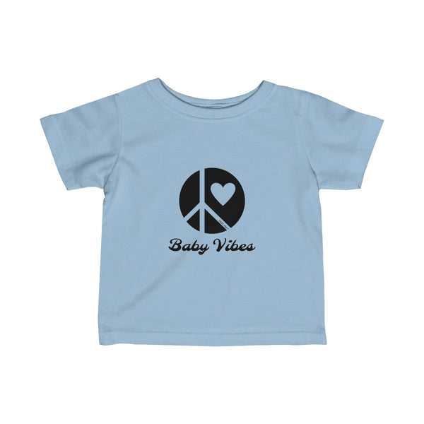Baby Vibes | Infant Fine Jersey Tee | 12 Colors - Baby Pea Clothing Fashion for Babies & Kids of all ages