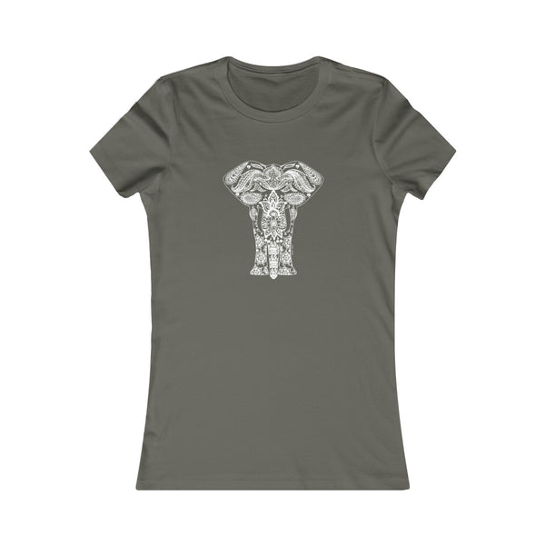Boho Animal Elephant | Women's Favorite Tee | 20 Colors - Baby Pea Clothing Fashion for Babies & Kids of all ages