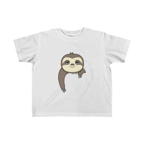 Sloth-ing Around | Toddler Kid's Jersey T-Shirt | 10 Colors | Unisex - Baby Pea Clothing Fashion for Babies & Kids of all ages