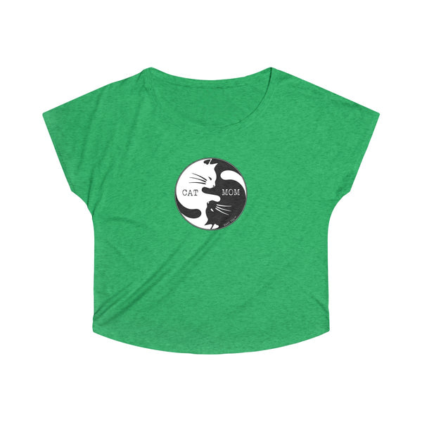Cat Mom Yin Yang | Women's Tri-Blend Dolman | 11 Colors - Baby Pea Clothing Fashion for Babies & Kids of all ages