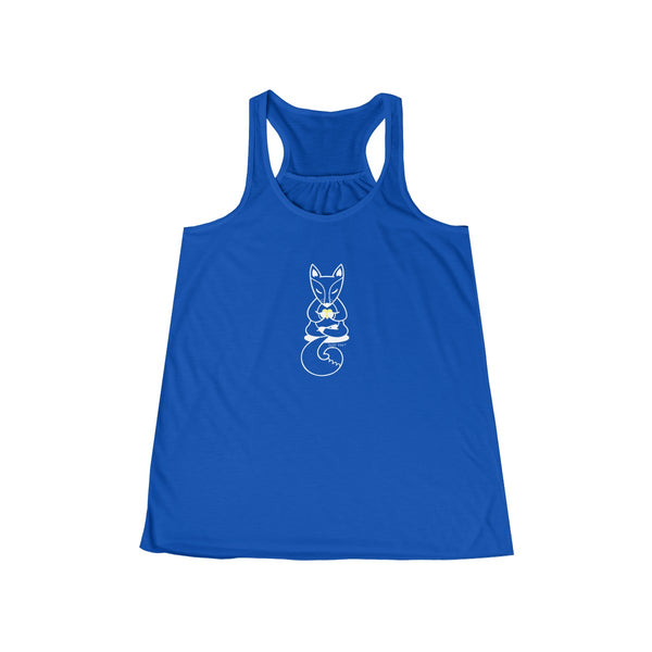 Boho Baby Yoga Fox | Women's Flowy Racerback Tank | 14 Colors | Women's - Baby Pea Clothing Fashion for Babies & Kids of all ages