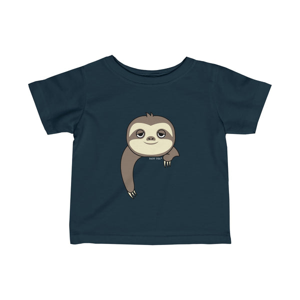 Sloth-ing Around | Infant Fine Jersey Tee | 12 Colors - Baby Pea Clothing Fashion for Babies & Kids of all ages