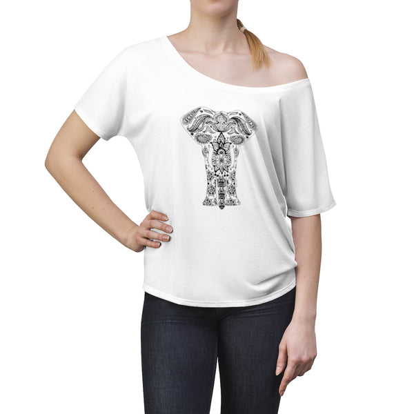 Boho Animal Elephant | Women's Slouchy top | 10 Colors - Baby Pea Clothing Fashion for Babies & Kids of all ages