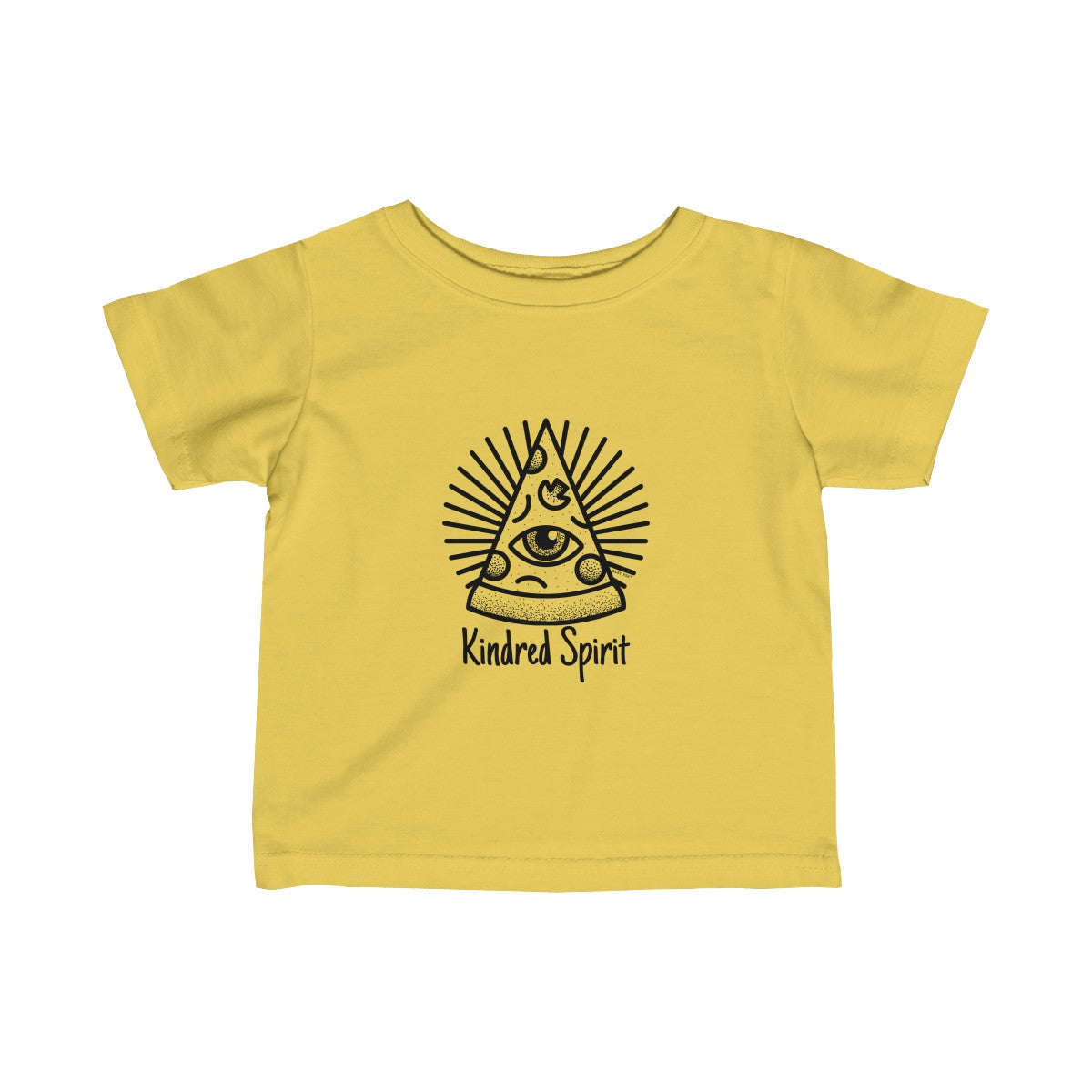 Kindred Spirit Pizza | Infant Fine Jersey Tee | 12 Colors - Baby Pea Clothing Fashion for Babies & Kids of all ages