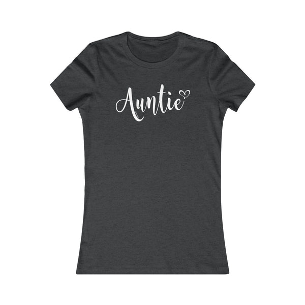 Auntie T-Shirt Heart | Women's Favorite Tee | 19 Colors - Baby Pea Clothing Fashion for Babies & Kids of all ages
