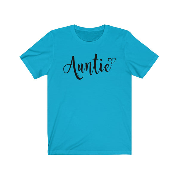 Auntie T-Shirt Heart | Unisex Jersey Short Sleeve Tee | 14 Colors - Baby Pea Clothing Fashion for Babies & Kids of all ages