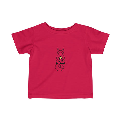 Boho Baby Yoga Fox | Infant Fine Jersey Tee | 12 Colors - Baby Pea Clothing Fashion for Babies & Kids of all ages