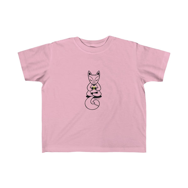 Boho Baby Yoga Fox | Toddler Kid's Jersey T-Shirt | 10 Colors | Unisex - Baby Pea Clothing Fashion for Babies & Kids of all ages