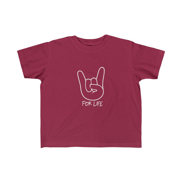 Rocker for Life | Toddler Jersey T-Shirt | 14 Colors | Unisex