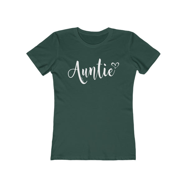 Auntie T-Shirt Heart | Women's The Boyfriend Tee | 20 Colors - Baby Pea Clothing Fashion for Babies & Kids of all ages