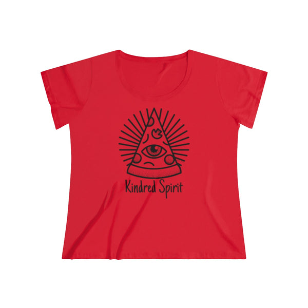 Kindred Spirit Pizza | Women's Curvy Tee | 6 Colors - Baby Pea Clothing Fashion for Babies & Kids of all ages