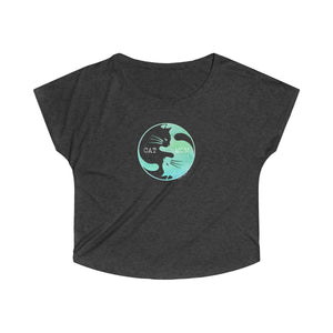 Cat Mom | Women's Tri-Blend Dolman T-Shirt | 7 Colors - Baby Pea Clothing Fashion for Babies & Kids of all ages