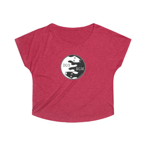 Dog Mom Yin Yang | Women's Tri-Blend Dolman T-Shirt | 7 Colors - Baby Pea Clothing Fashion for Babies & Kids of all ages