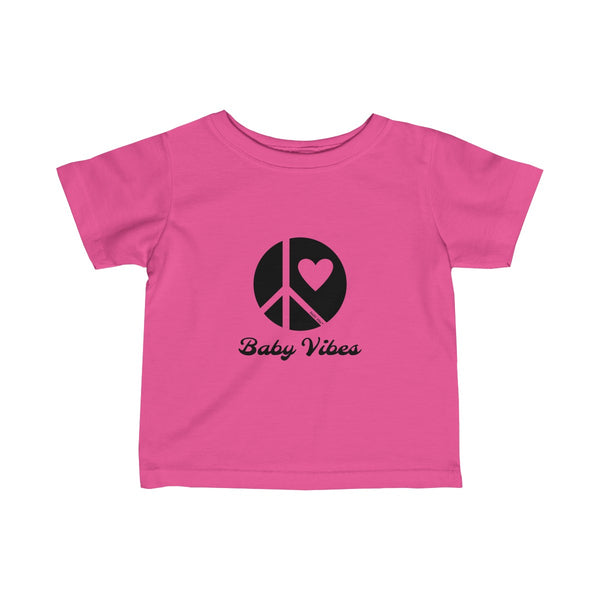 Baby Vibes | Infant Fine Jersey Tee | 15 Colors - Baby Pea Clothing Fashion for Babies & Kids of all ages